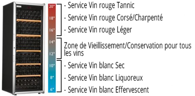 une cave a vin multi-temperature